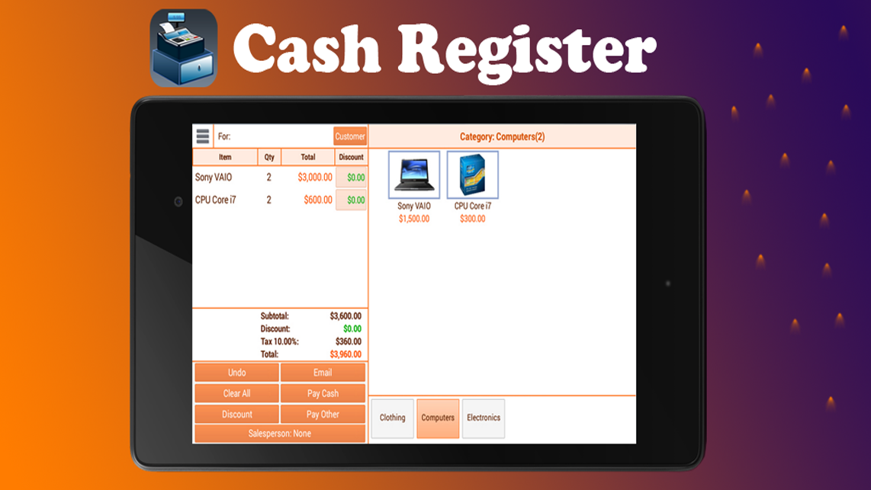 Cash Register App - Ip Cam Soft